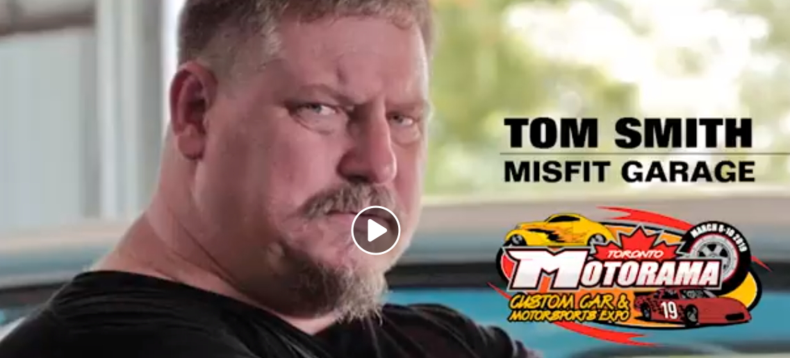 Video: Misfit Garage co-star Tom Smith mildly enthused about coming