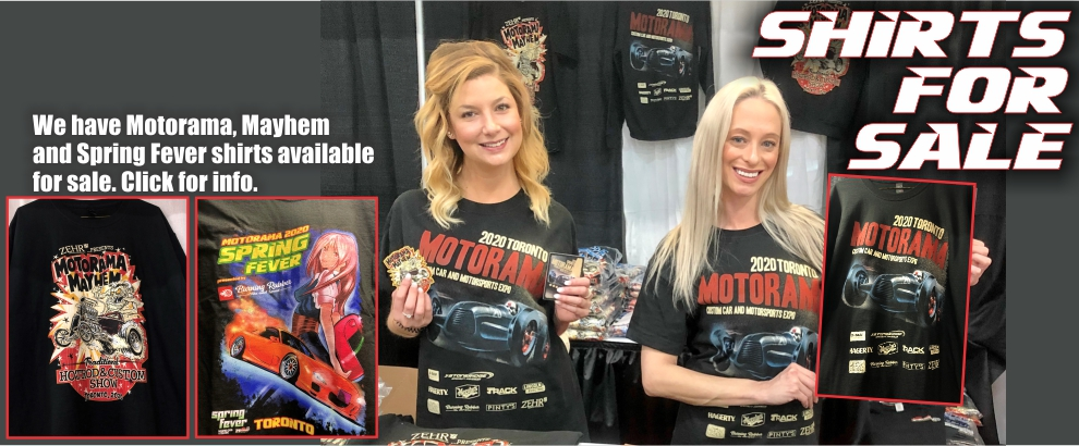 TORONTO MOTORAMA SHIRTS FOR SALE